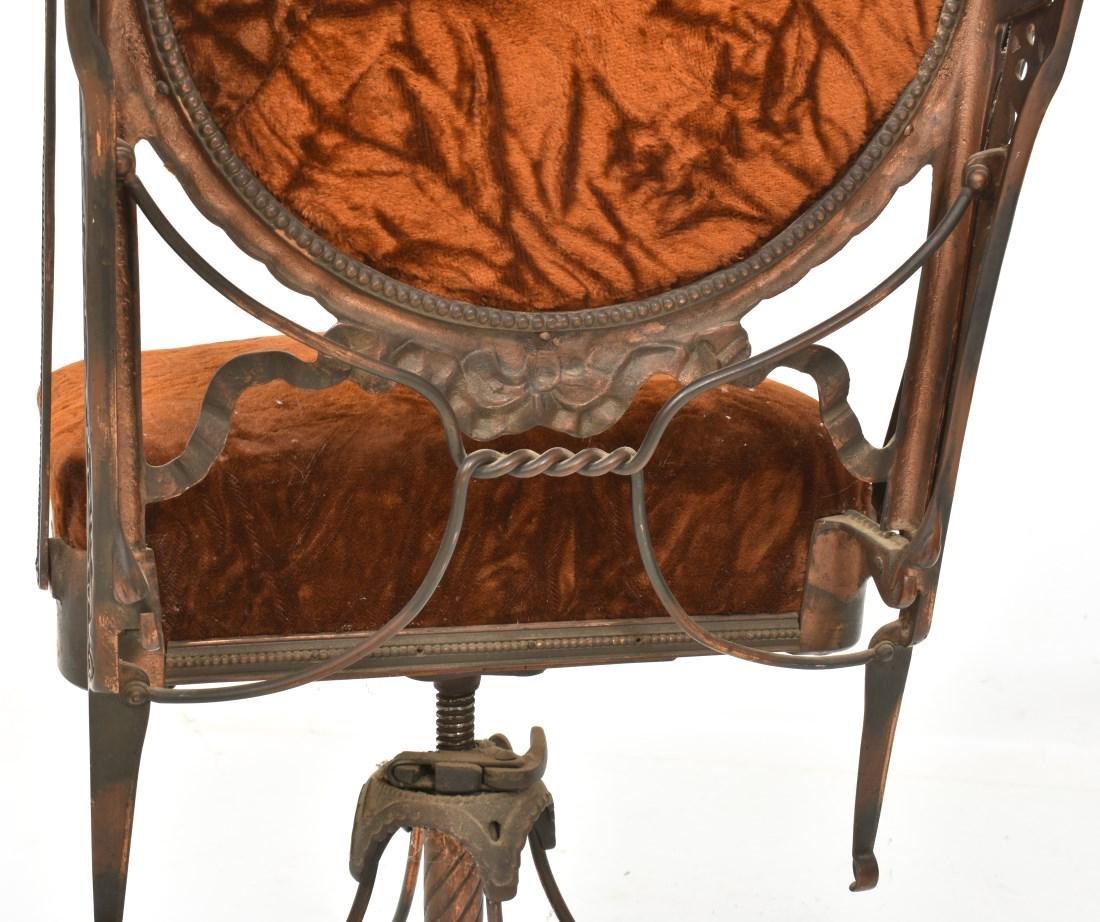 Unusual Mechanical Cast Iron Piano Stool - 6