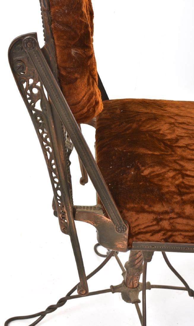 Unusual Mechanical Cast Iron Piano Stool - 7