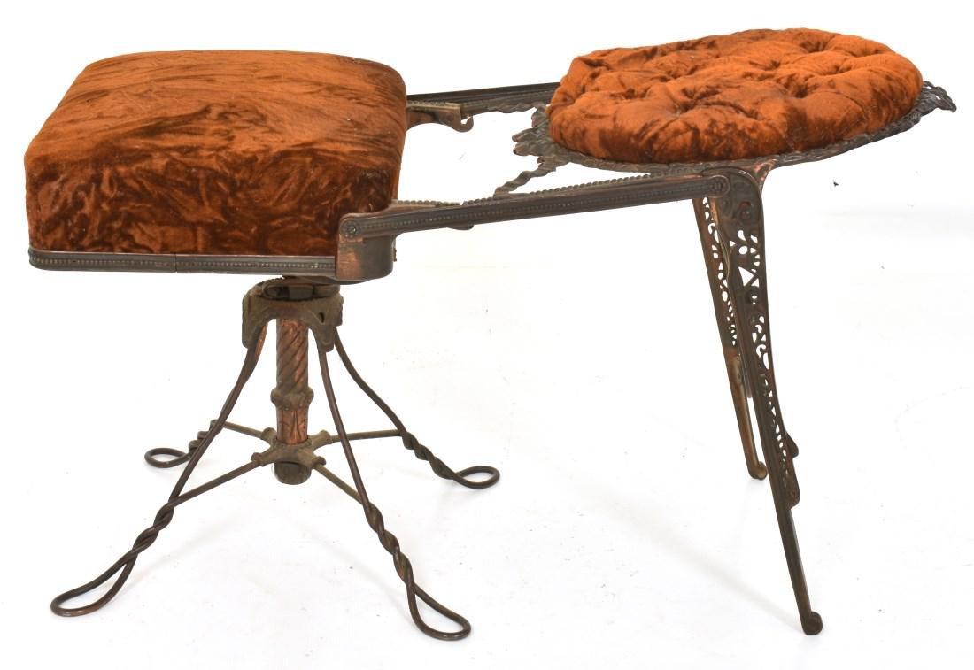Unusual Mechanical Cast Iron Piano Stool - 9