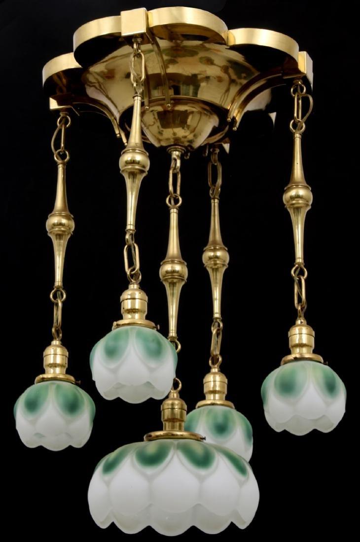 Brass 5 Light Chandelier