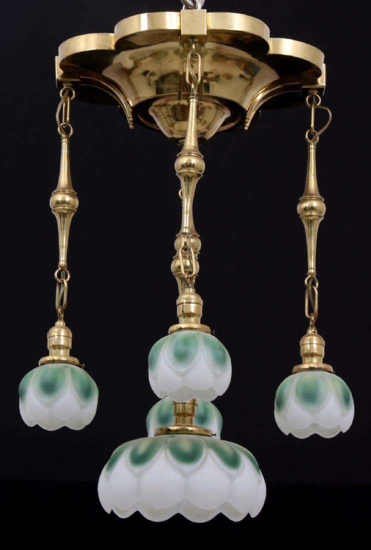 Brass 5 Light Chandelier - 3