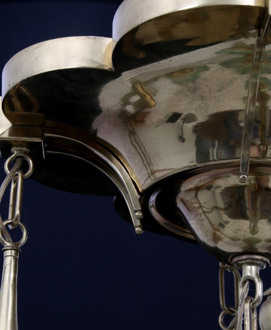 Brass 5 Light Chandelier - 9