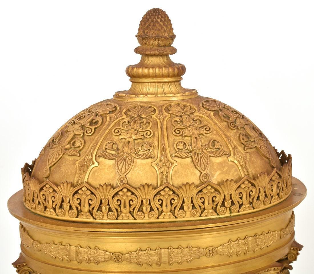 Gilt Bronze Empire Mantle Clock - 2