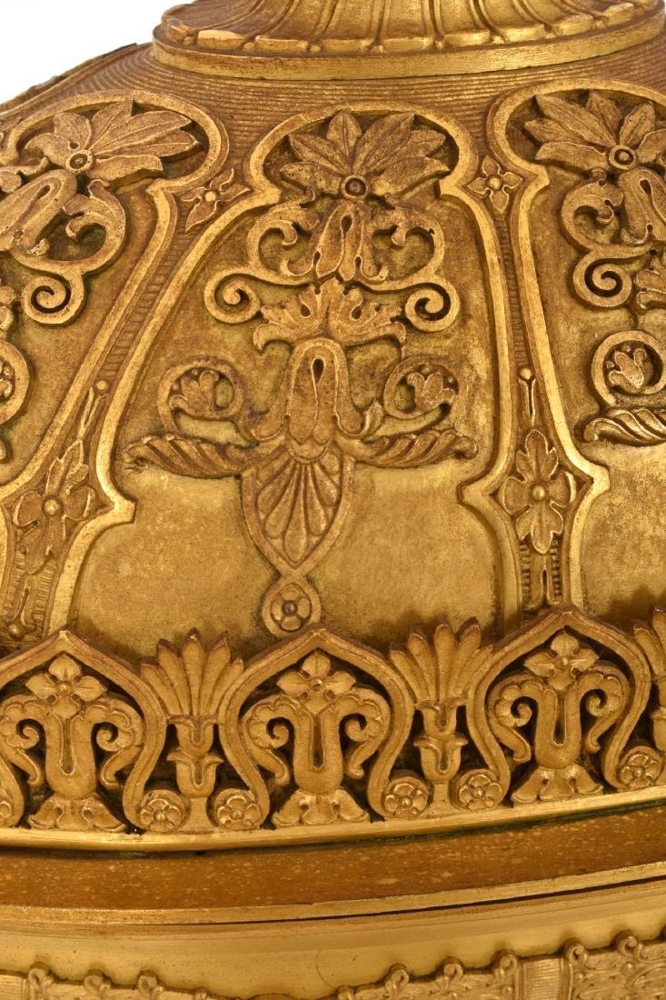 Gilt Bronze Empire Mantle Clock - 3