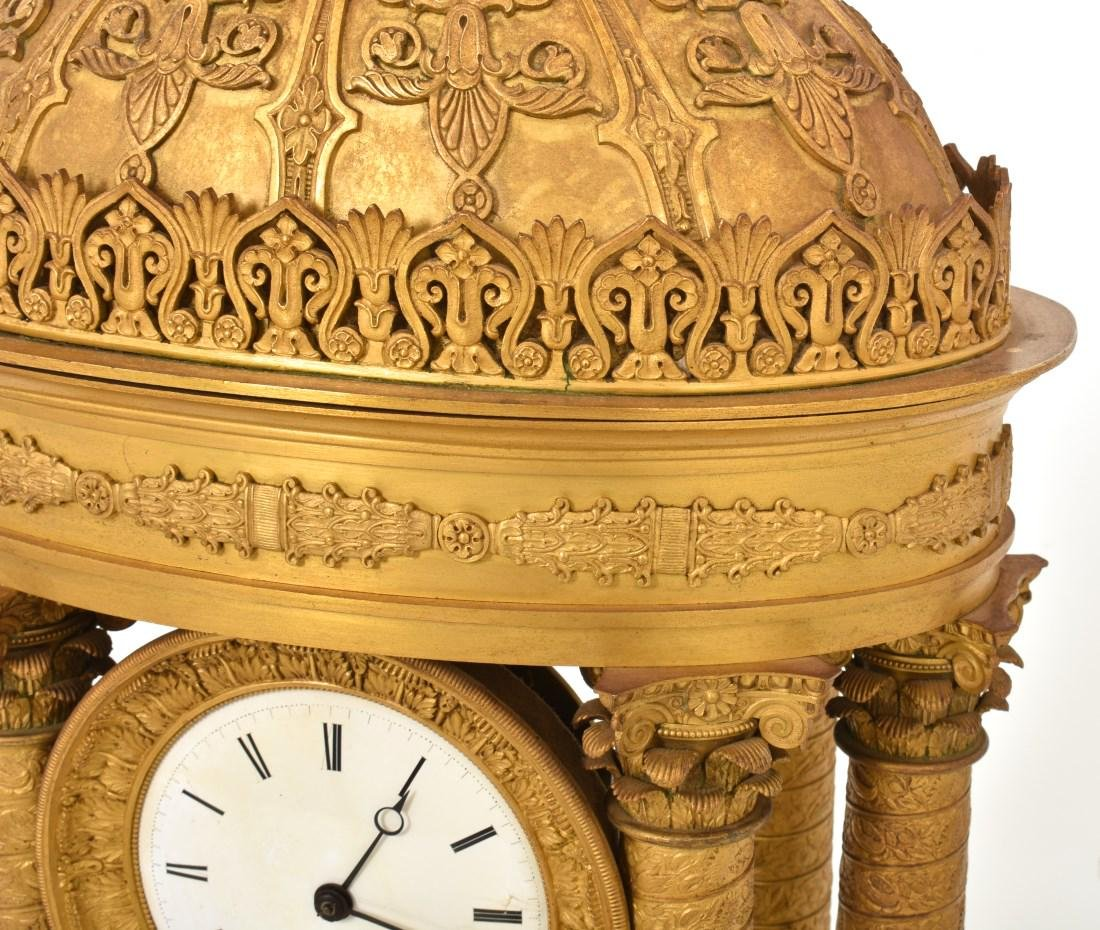 Gilt Bronze Empire Mantle Clock - 4
