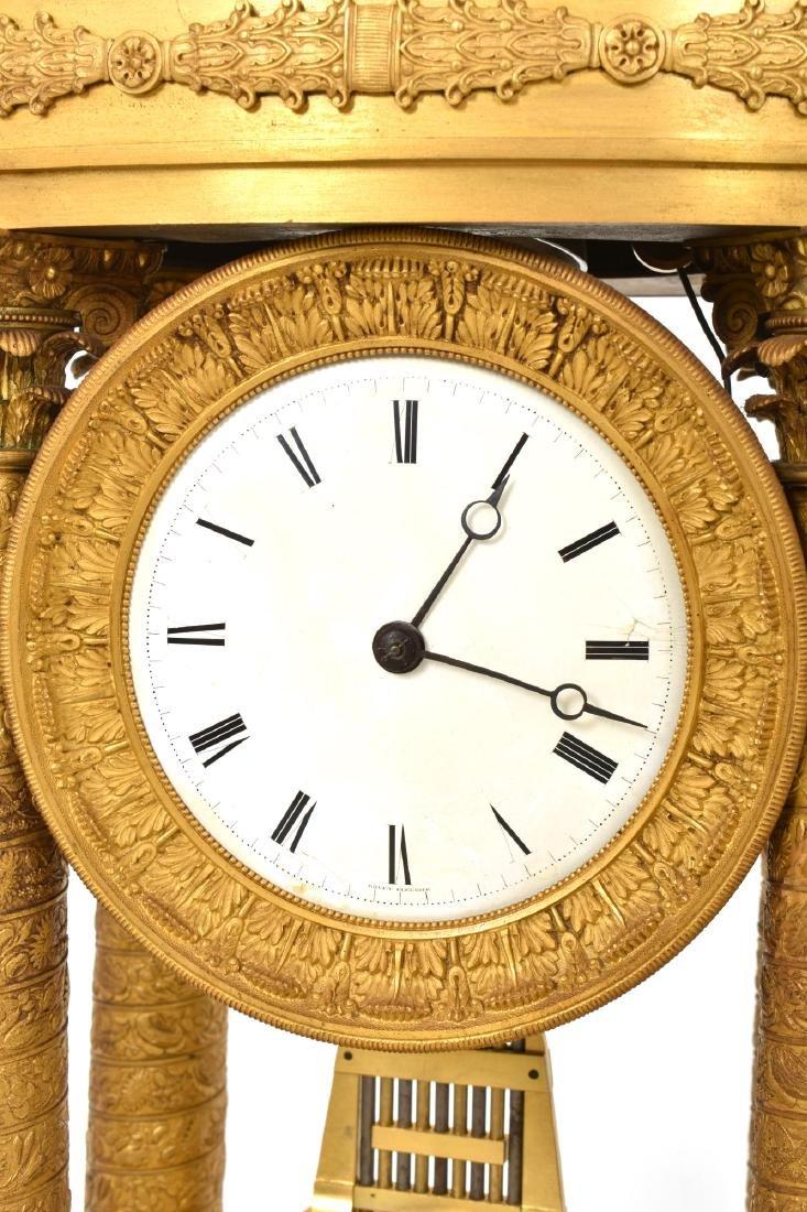 Gilt Bronze Empire Mantle Clock - 6