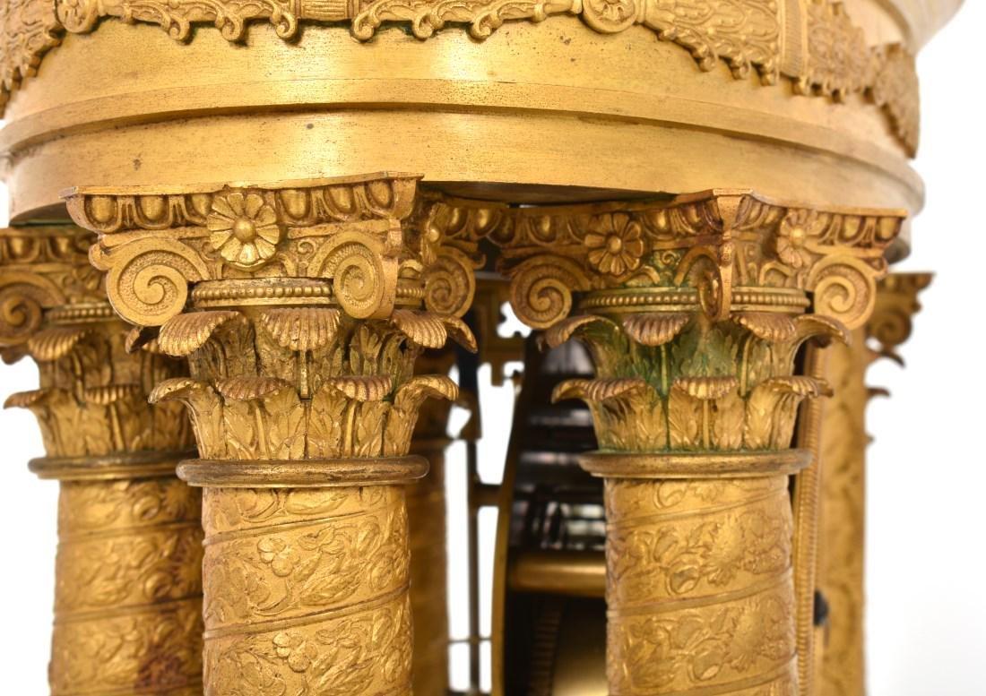 Gilt Bronze Empire Mantle Clock - 9