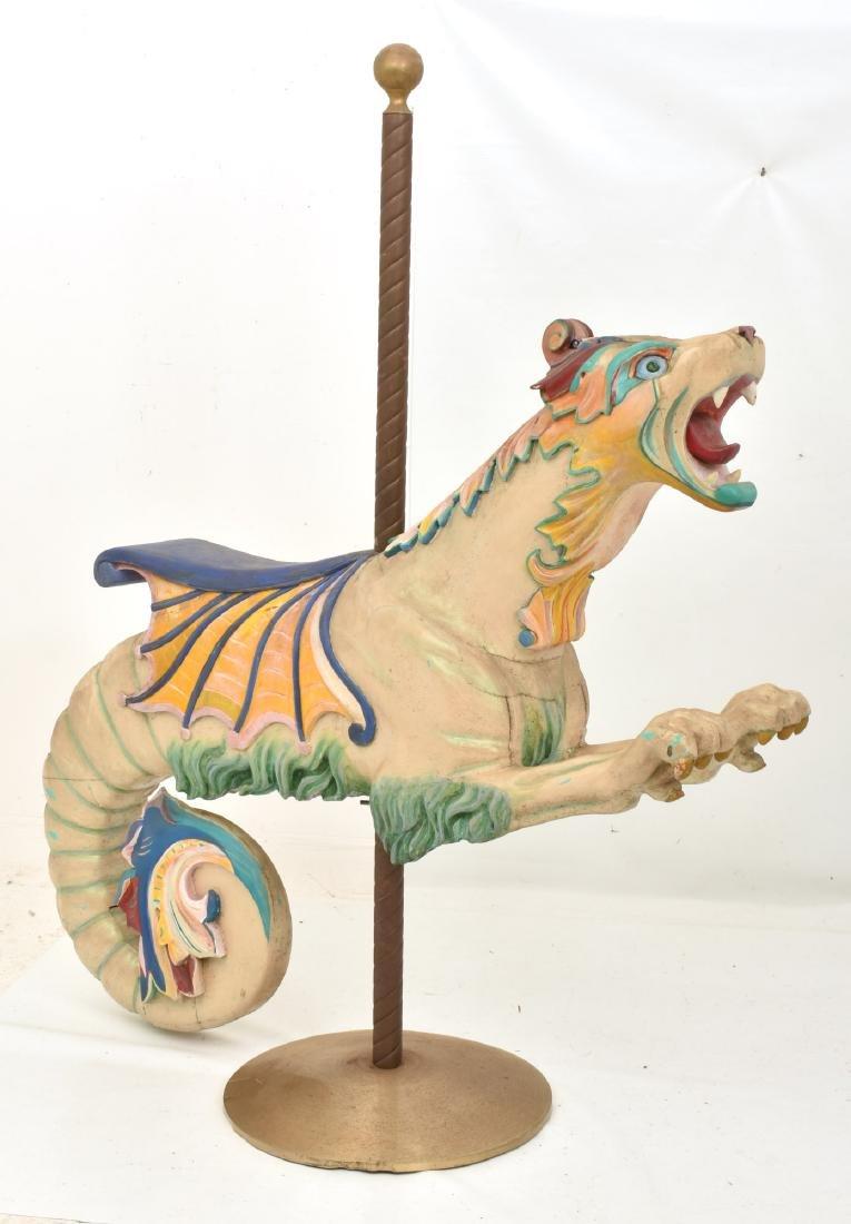 Herschell-Spillman Carousel Sea Monster Figure