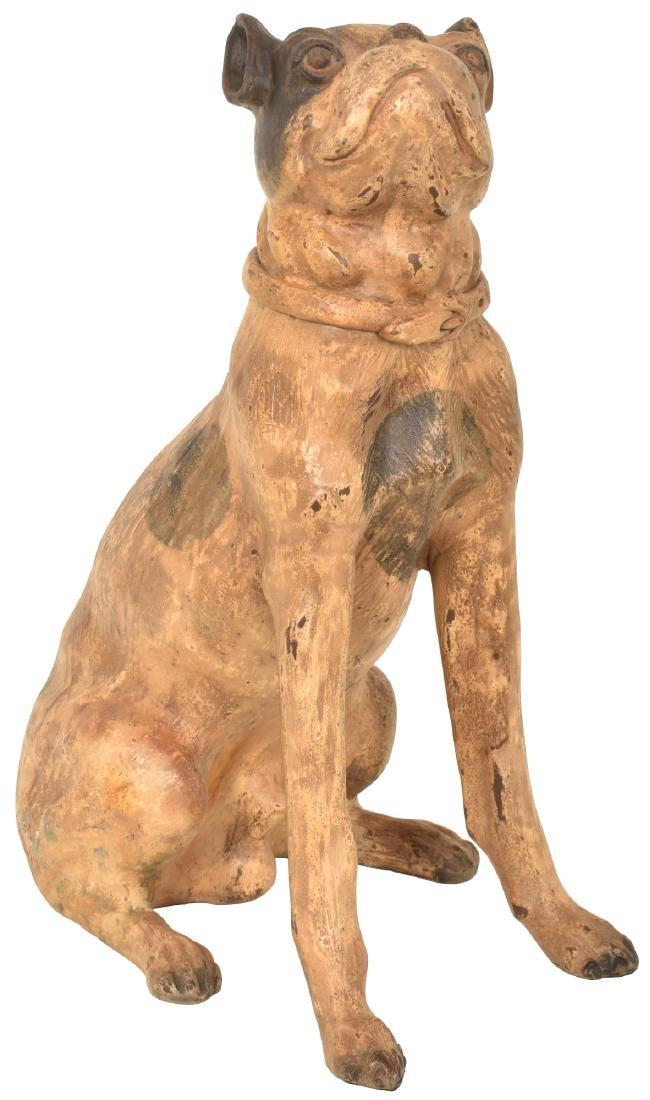 Folk Art Terra Cotta Dog