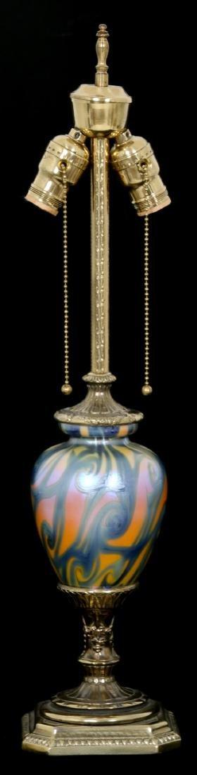 Durand King Tut Art Glass Lamp Base