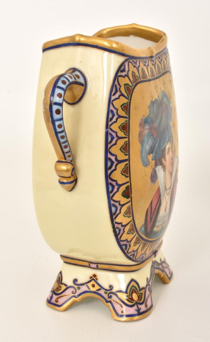 Pr. Porcelain painted Portrait Vases - 3