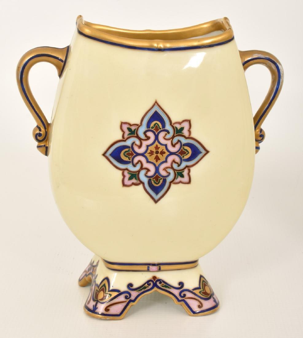 Pr. Porcelain painted Portrait Vases - 4