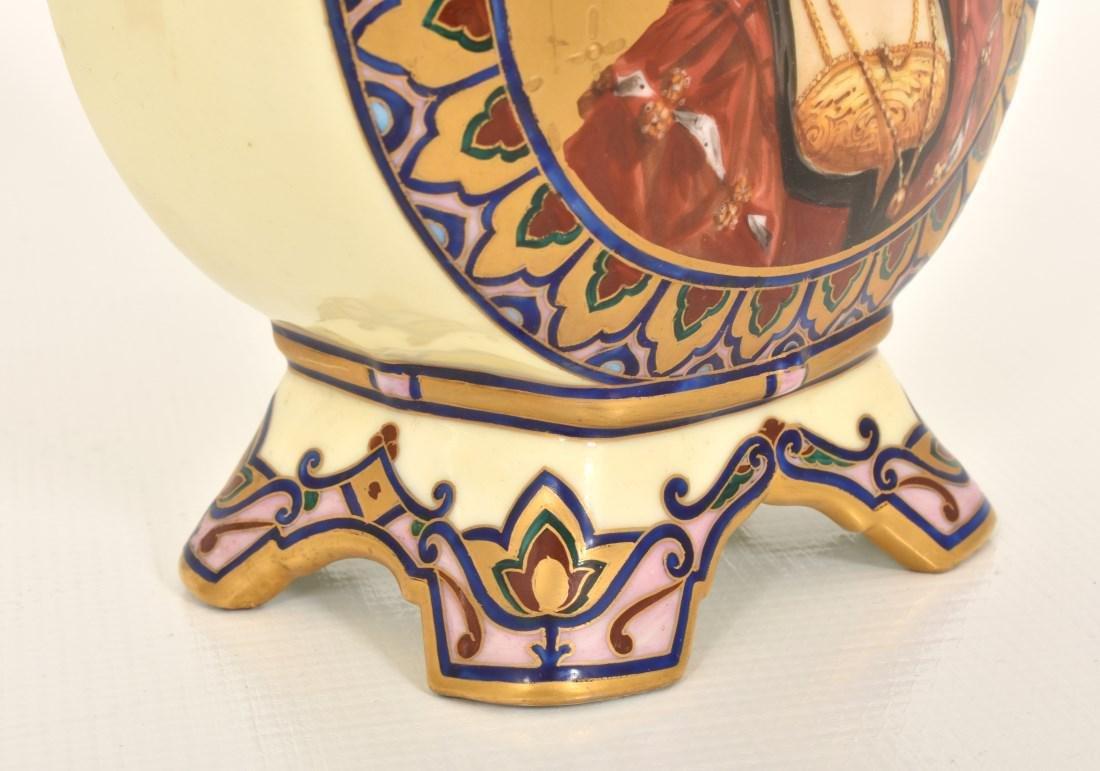 Pr. Porcelain painted Portrait Vases - 7