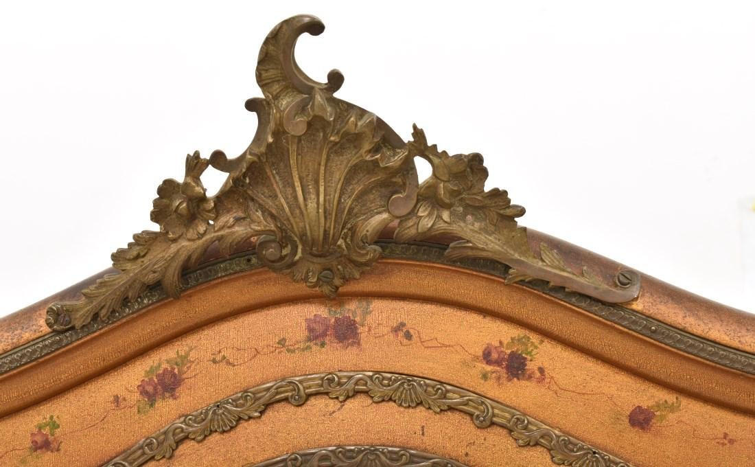 Paint Decorated Gilt Vitrine Curio Cabinet - 4