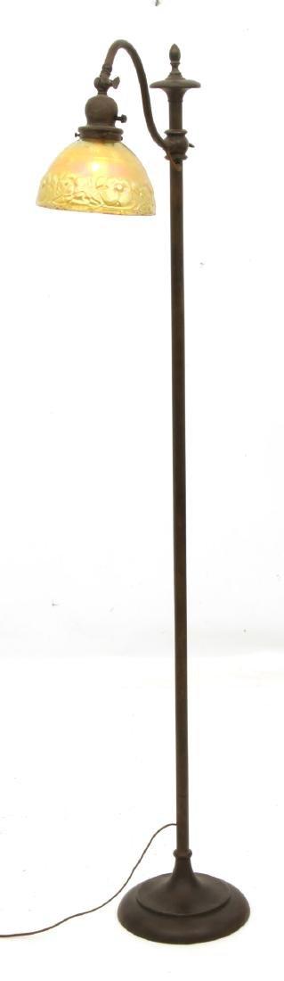 Handel Bridge Lamp With Gold Iridescent Shade - 10