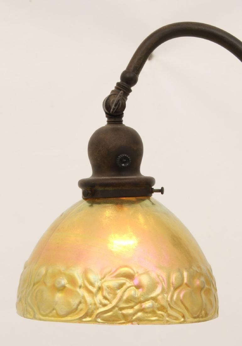 Handel Bridge Lamp With Gold Iridescent Shade - 2