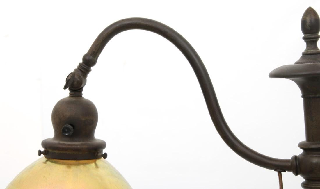 Handel Bridge Lamp With Gold Iridescent Shade - 4