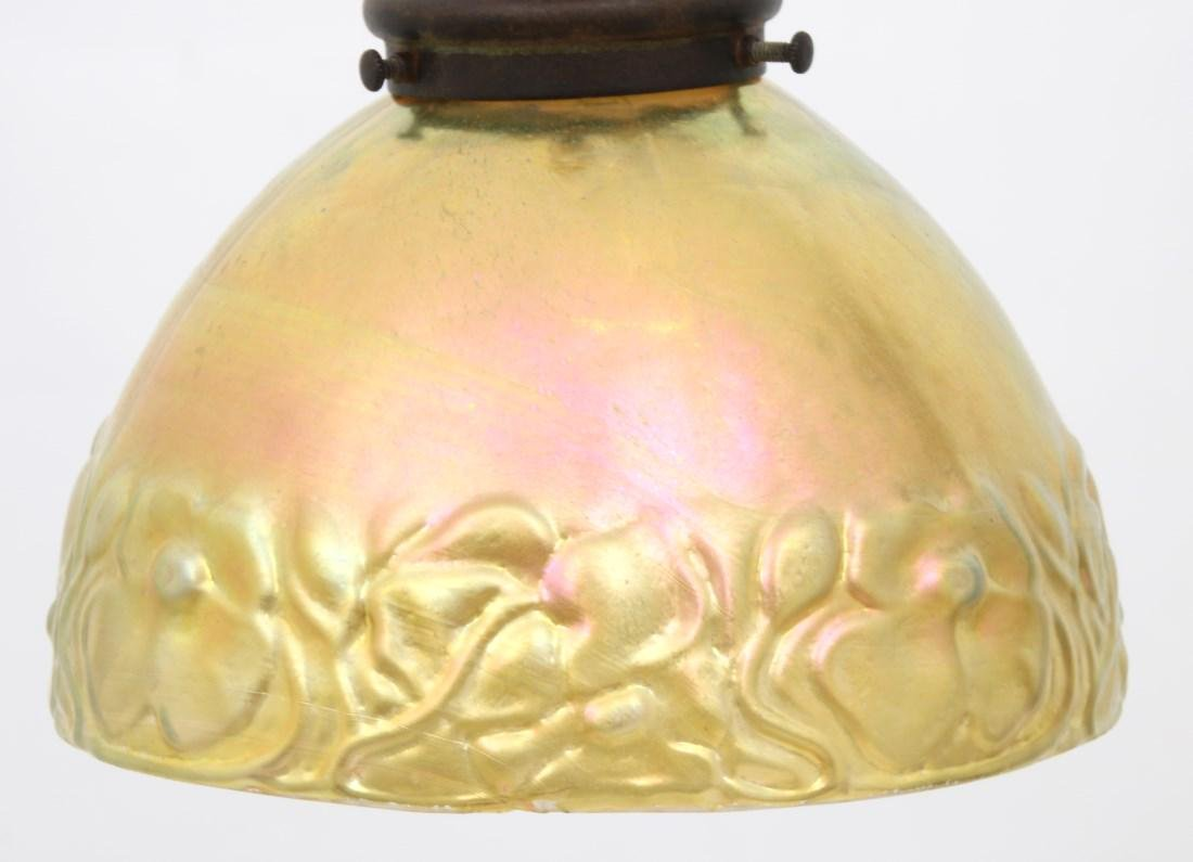Handel Bridge Lamp With Gold Iridescent Shade - 6