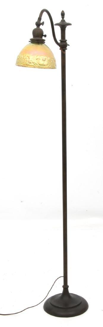 Handel Bridge Lamp With Gold Iridescent Shade - 9
