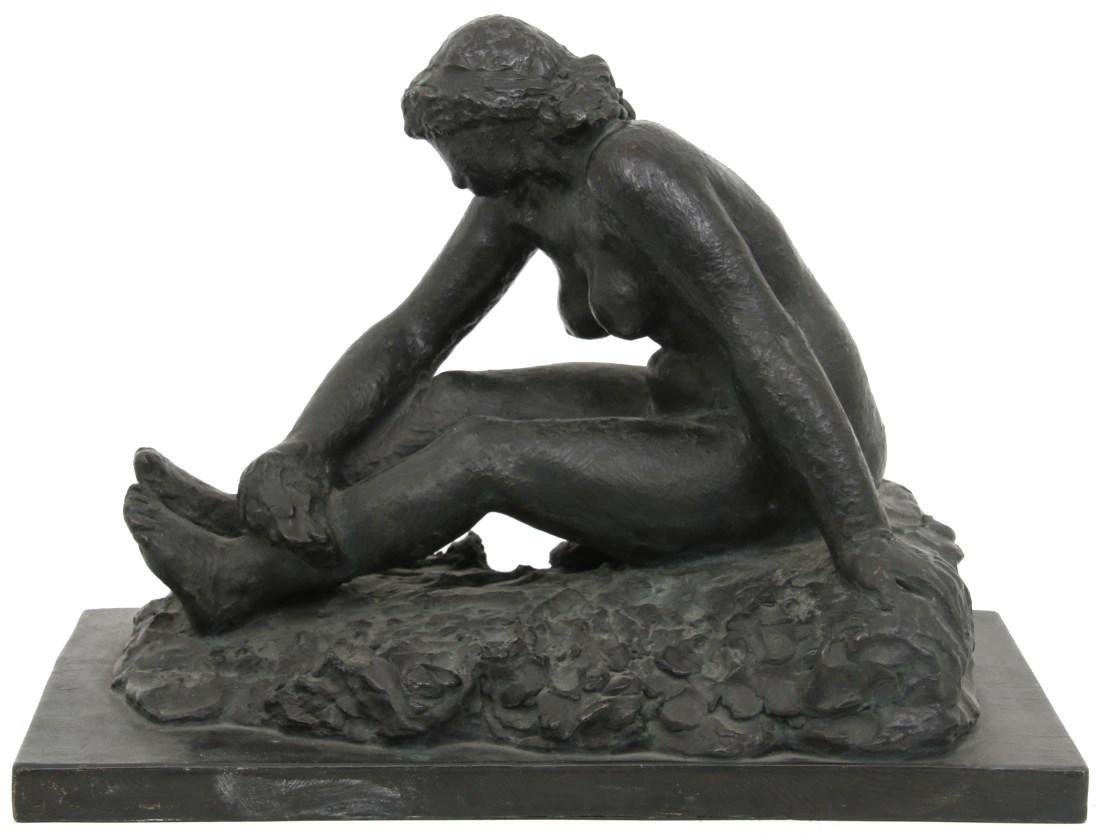 Attr. Gerhard Henning Nude Bronze Figure