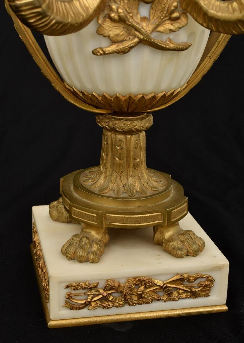 Pr. Marble & Bronze Urn Candelabras - 6