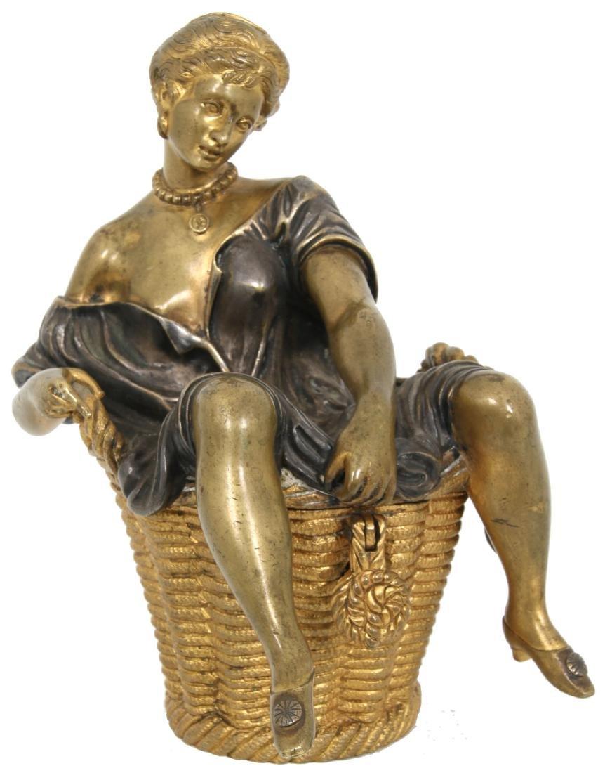 Erotic Bronze Figural Box - 2