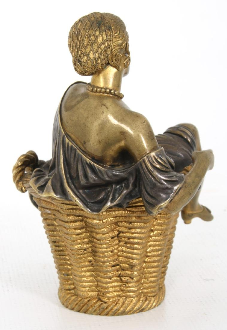 Erotic Bronze Figural Box - 4