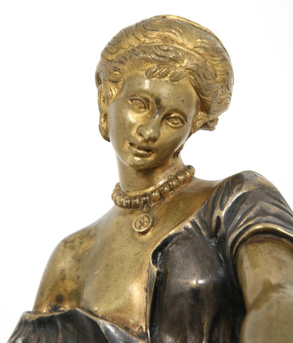 Erotic Bronze Figural Box - 6
