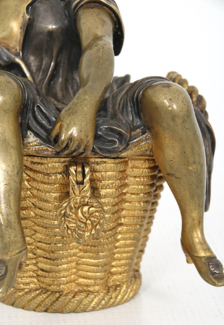 Erotic Bronze Figural Box - 7