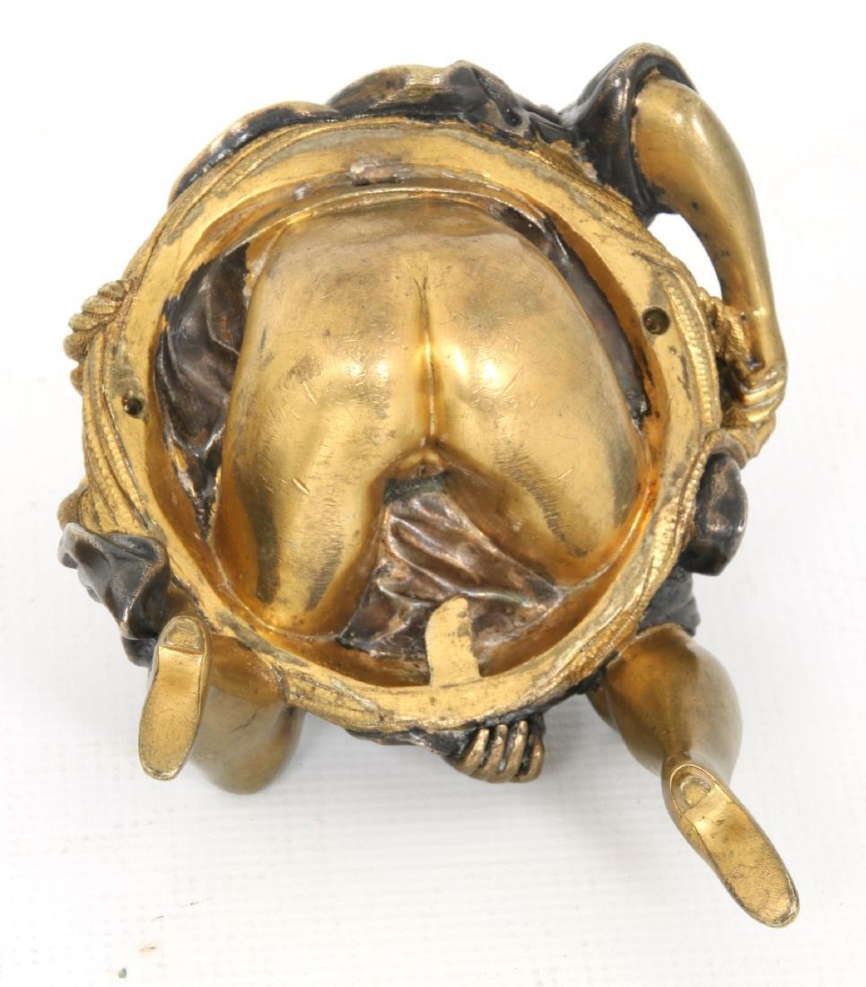 Erotic Bronze Figural Box - 9