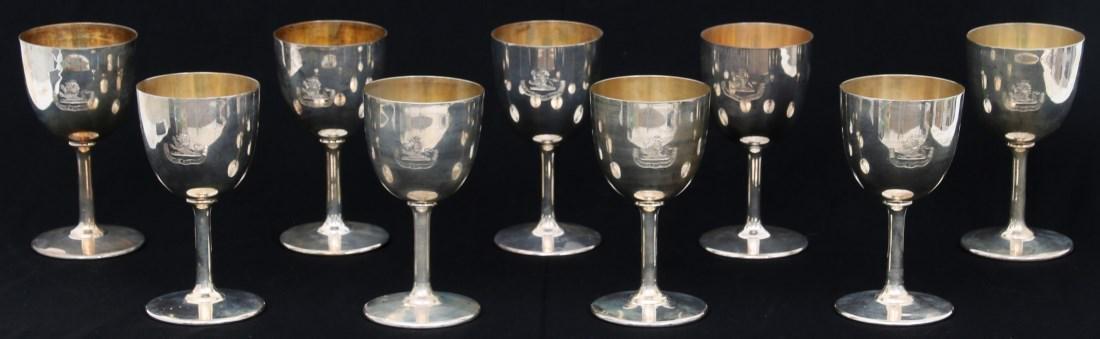 9 Sterling Silver Goblets