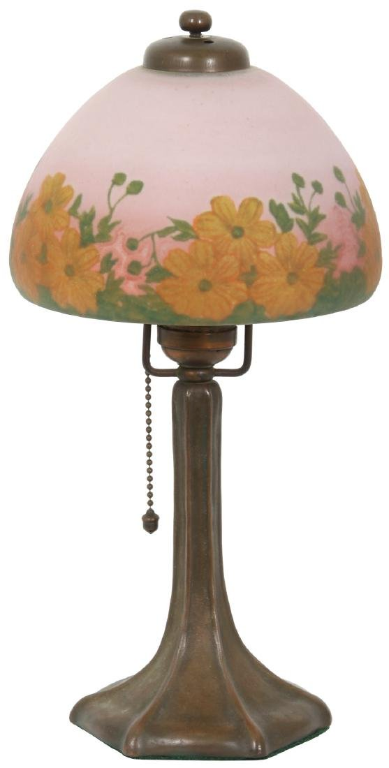 Handel Reverse Painted Boudoir Lamp