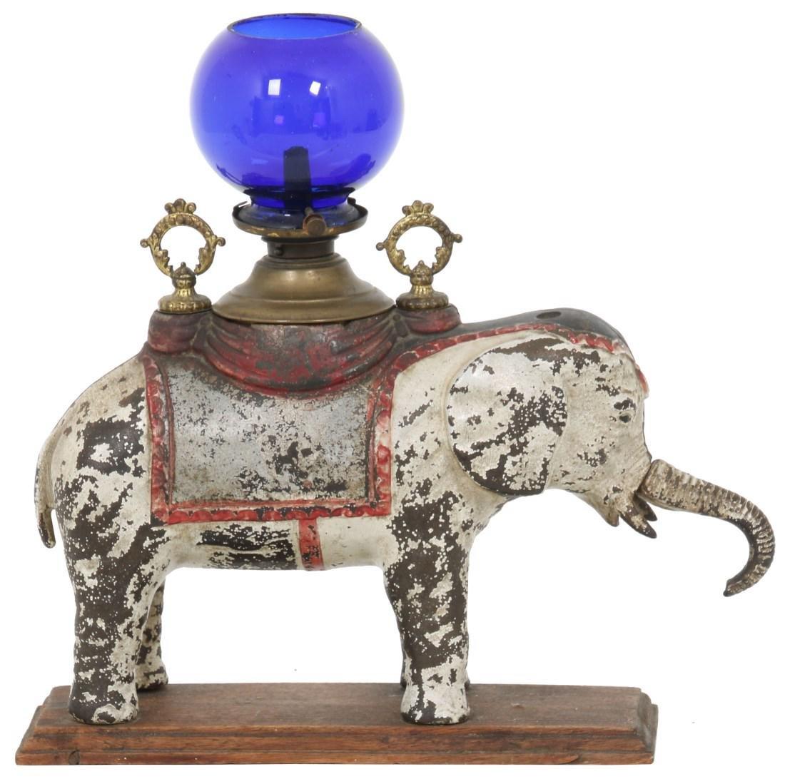 Rare Cast Iron Elephant Counter Top Cigar Stand