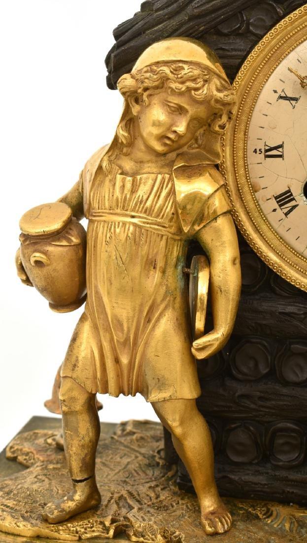 Bronze Little Red Riding Hood Mantle Clock - 4