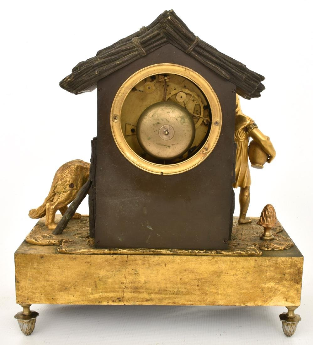 Bronze Little Red Riding Hood Mantle Clock - 7