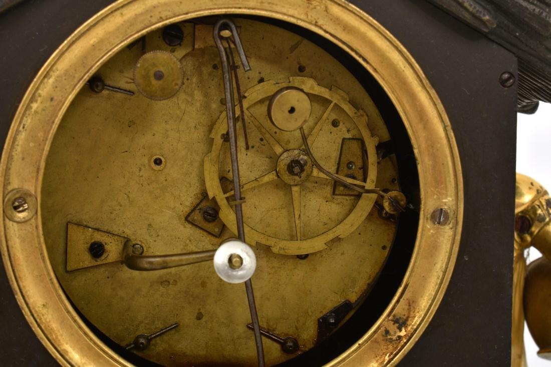 Bronze Little Red Riding Hood Mantle Clock - 8