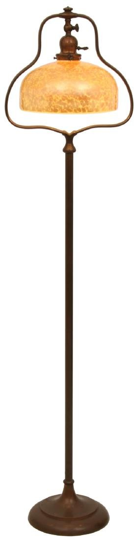 Handle Harp Floor Lamp w/ Lundberg Shade