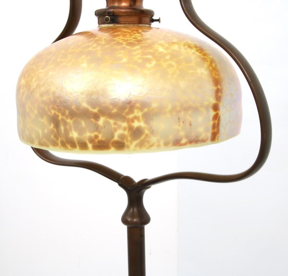 Handle Harp Floor Lamp w/ Lundberg Shade - 5