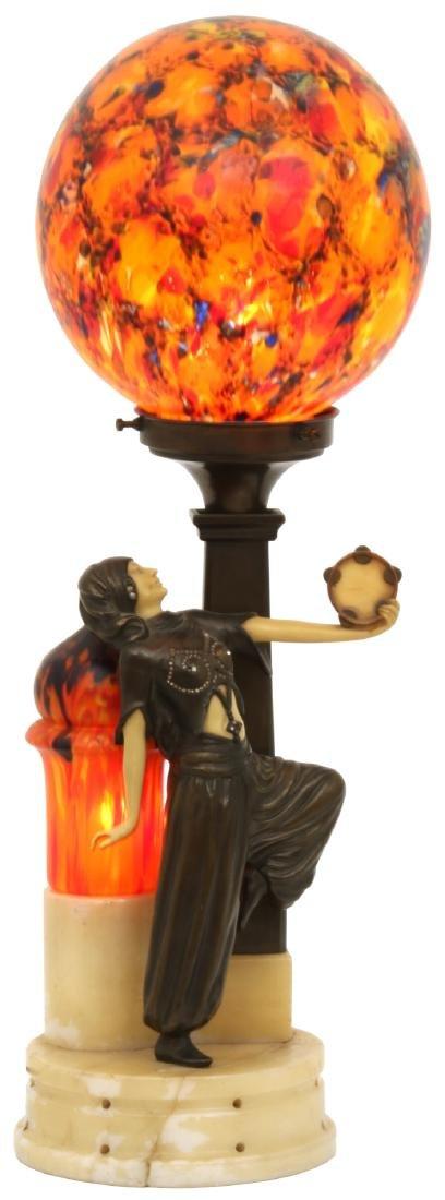 German Deco Dancer Figural Lamp