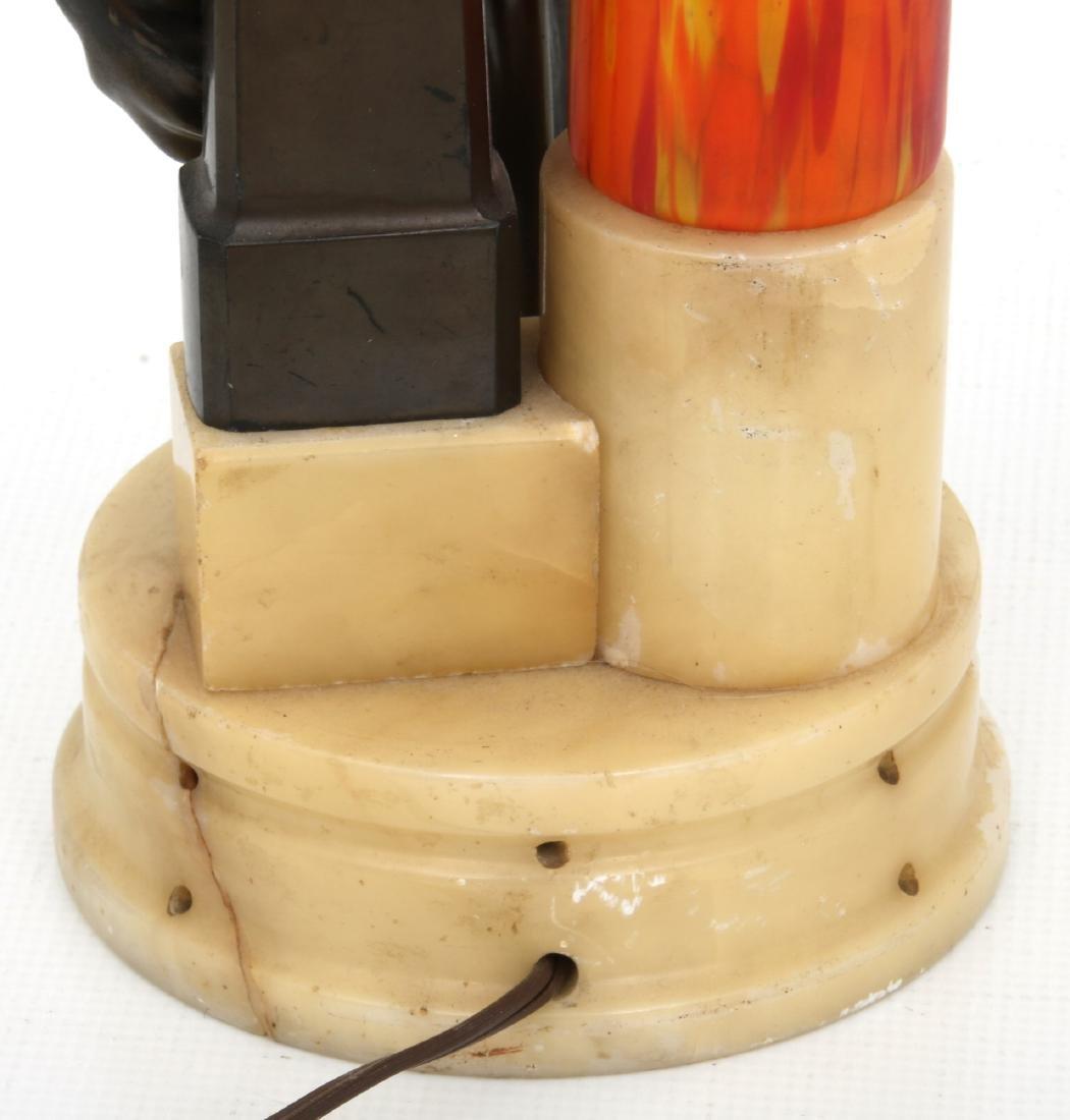 German Deco Dancer Figural Lamp - 4