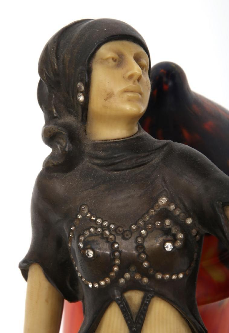 German Deco Dancer Figural Lamp - 6