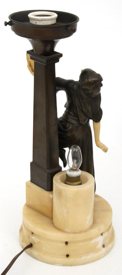 German Deco Dancer Figural Lamp - 9