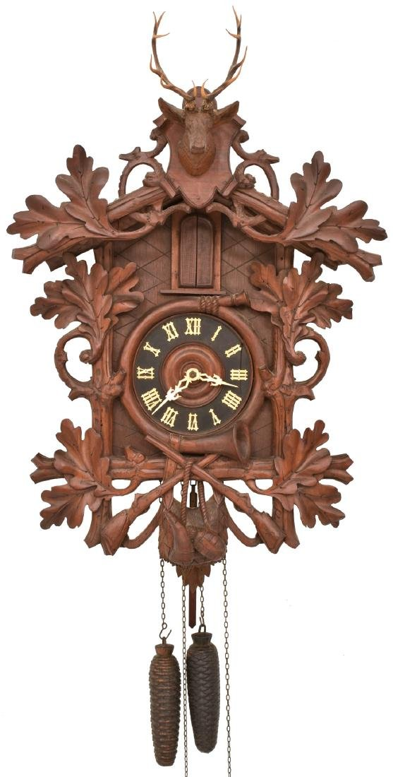 Black Forest Trumpeter Cuckoo Clock