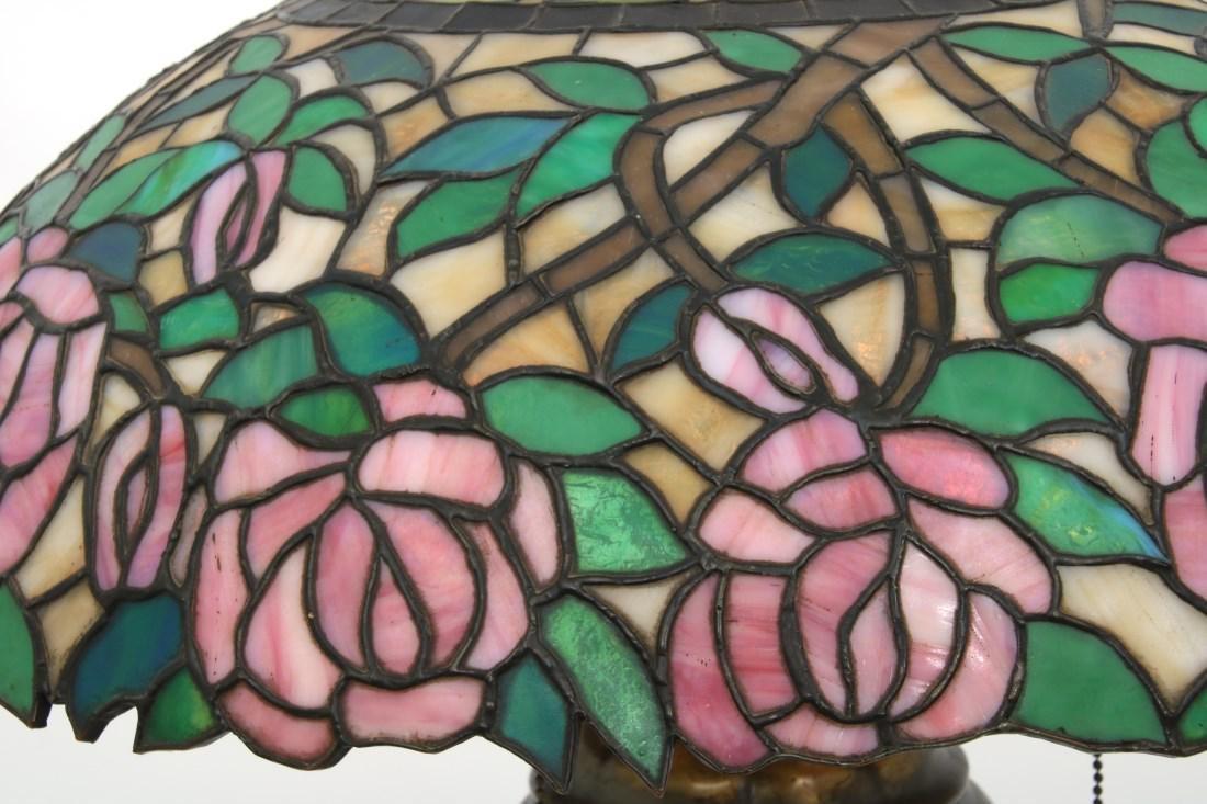 21 in. Open Rose Leaded Table Lamp - 5
