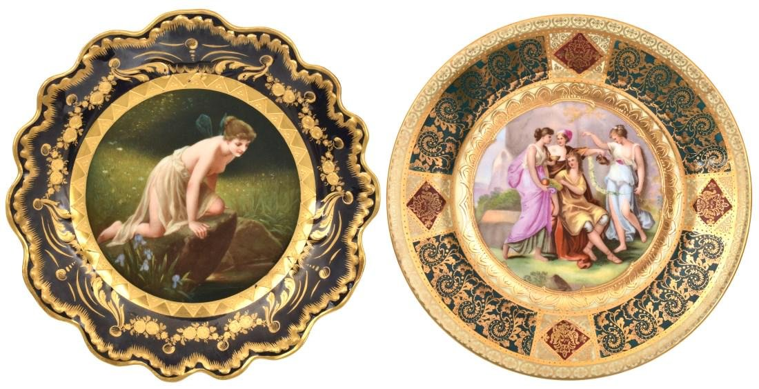 2 Royal Vienna Porcelain Plates