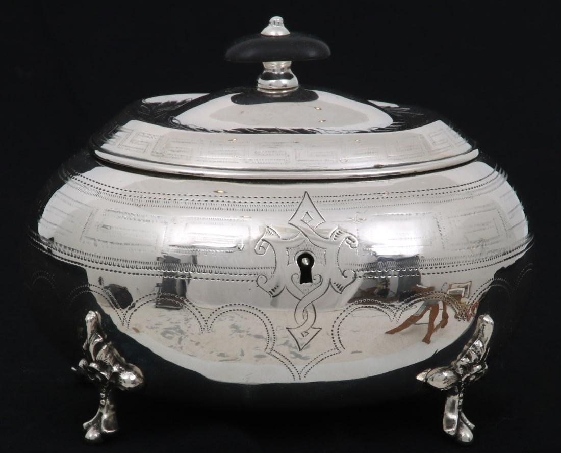 Hungarian Silver Tea Caddy