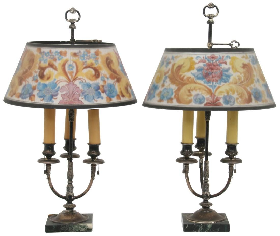 Pr. Pairpoint Reverse Painted Table Lamps