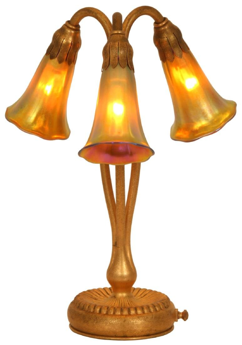 Tiffany Studios 3 Light Lily Lamp