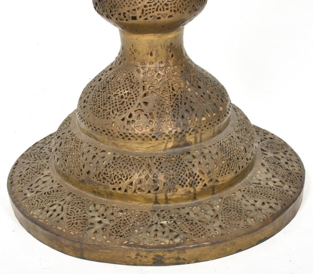 24 in. Turkish Style Pierced Brass Floor Lamp - 2