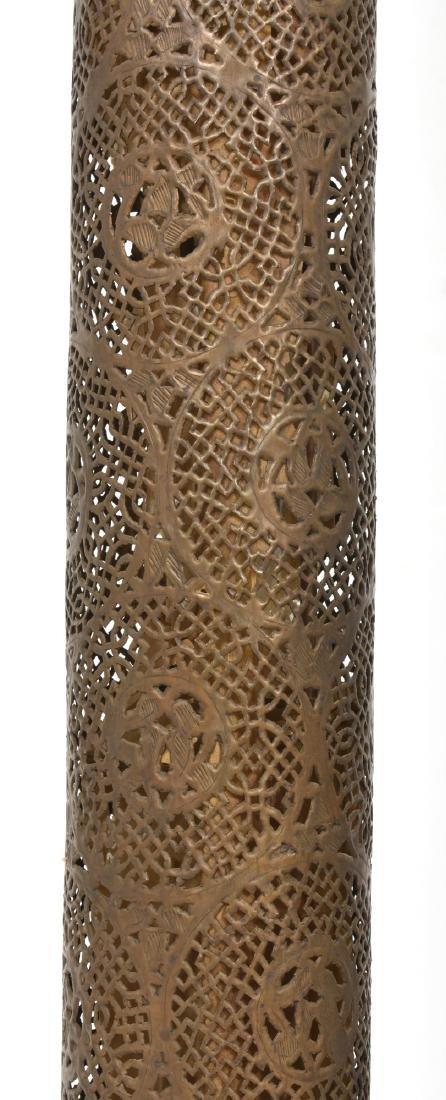 24 in. Turkish Style Pierced Brass Floor Lamp - 4